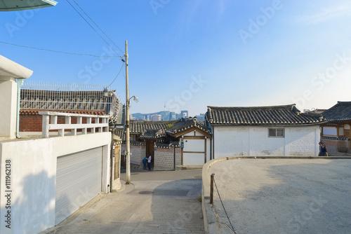 Staande foto Industrial geb. SEOUL,South Korea - MAY 22: Hahoe Folk village in South Korea. M
