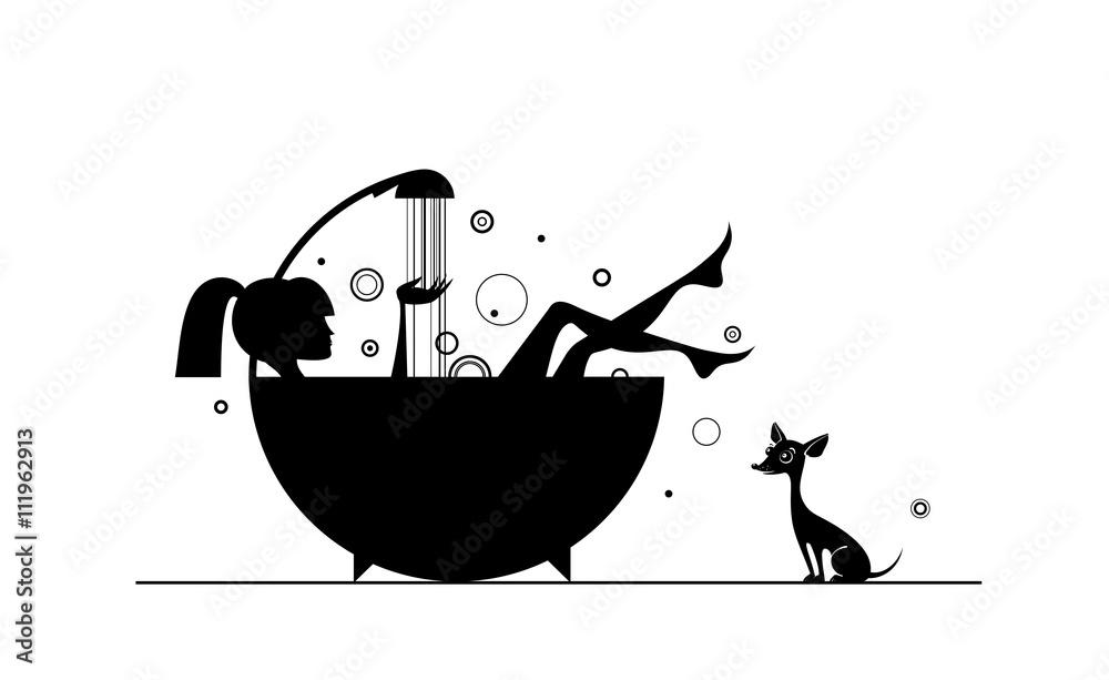 Fototapeta Girls in the bath.