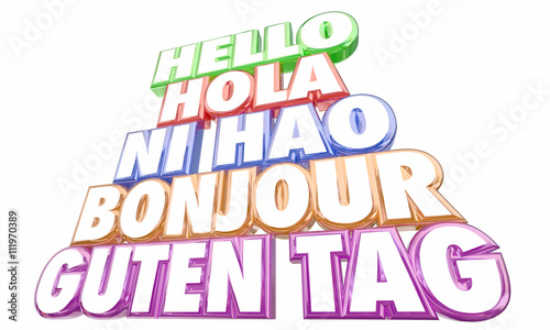 Hello greetings introduction languages ni hao bonjour words 3d hello greetings introduction languages ni hao bonjour words 3d illustration m4hsunfo