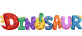 Fototapeta Dino - Dinosaur Typography