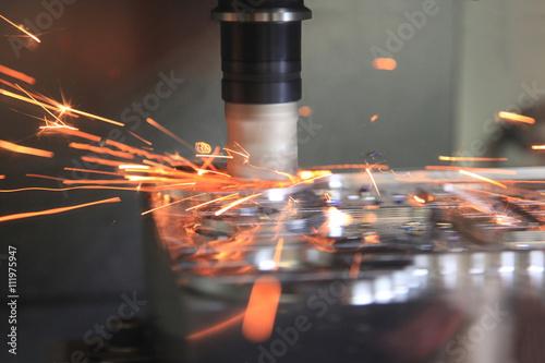 Fotografie, Obraz  High-speed milling parts