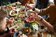 Leinwandbild Motiv Family dinner