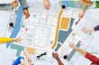 canvas print picture - City Urban Blueprint Plan Infrastacture Concept