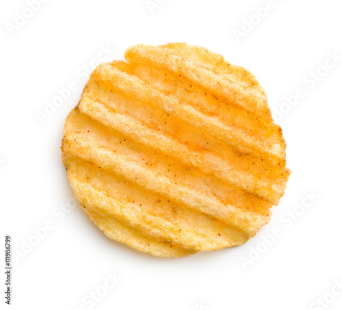 Fotografia, Obraz  Crinkle cut potato chips.