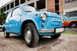 Blue retro classic car