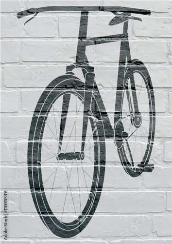 Art urbain, bicycle. Poster