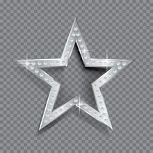 Transparent Silver Star