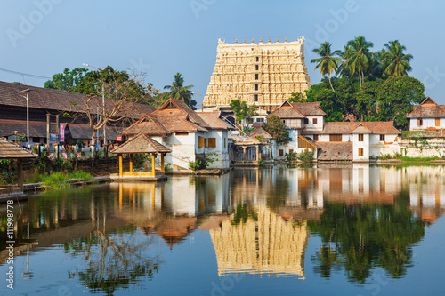 Wall Murals Place of worship Sri Padmanabhaswamy temple in Trivandrum Kerala India