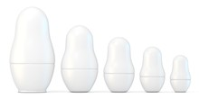 Set Of White Unpainted Matryos...