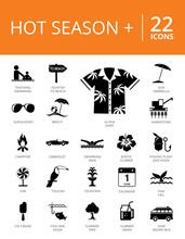 Hot Season Plus Icons Set