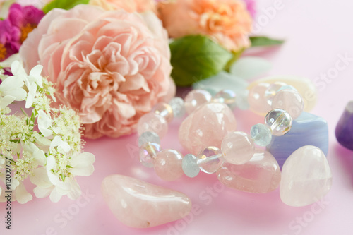 gemstones with roses