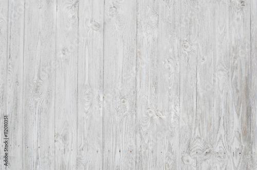 Poster Bois white wooden planks