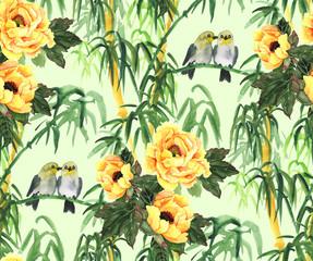 Fototapeta Inspiracje na wiosnę Bamboo hand drawn