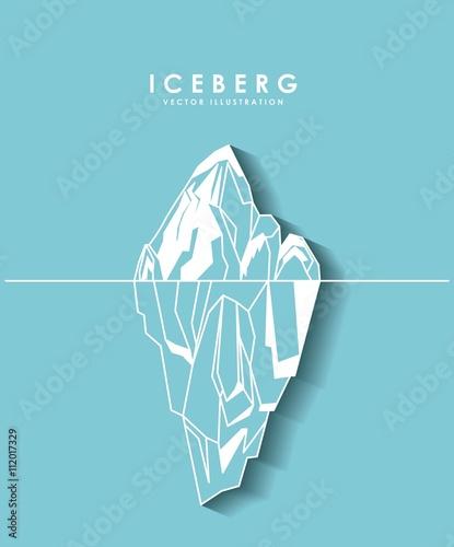 Leinwand Poster iceberg glacier  design