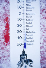 Close-up Of Outdoor Thermometer