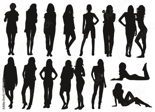 Silhouette femmes Wallpaper Mural