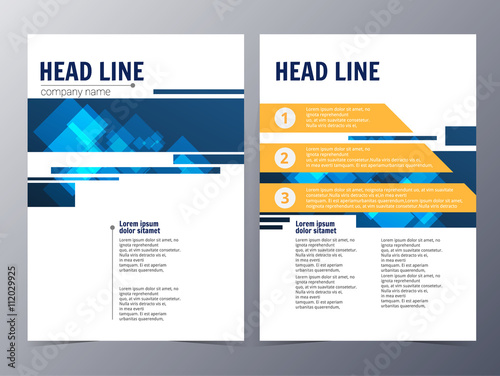 Business And Technology Brochure Design Template Vector Buy This