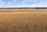 Landscape with plowed field.
