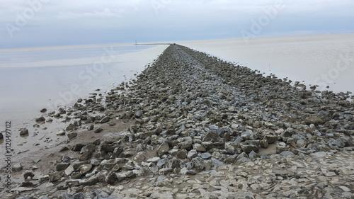 Spoed Foto op Canvas Noordzee Steinpfad an der Nordsee
