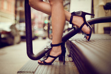 Woman Legs In High Heel Shoes ...