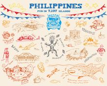 Philippine Doodle Sketch Concept Collection 2. Editable Clip Art Vector Eps10