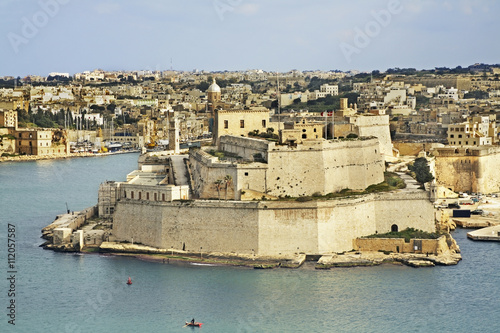 Photo sur Aluminium Fortification View of Birgu. Malta