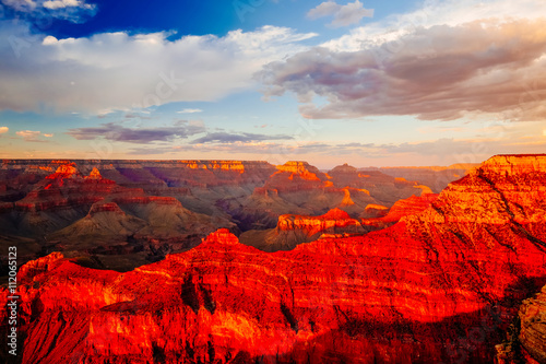 Photo sur Toile Rouge Mather Point, View Point, Grand Canyon National Park, Arizona, U