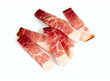 canvas print picture - italian speck isolated on white background