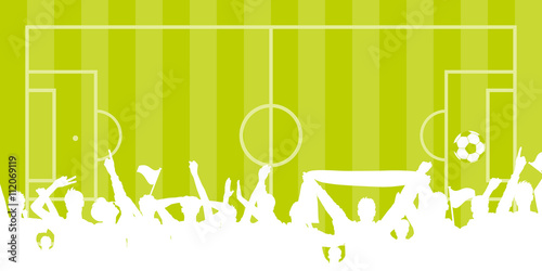Fussball Fans Mit Fussball Feld Buy This Stock Vector And