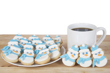 Snowman Sugar Cookies With Roy...