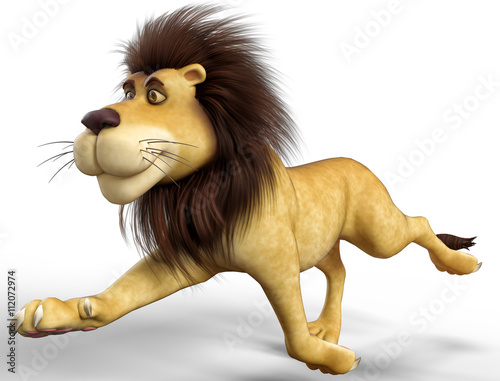 In de dag Kinderkamer lion cartoon