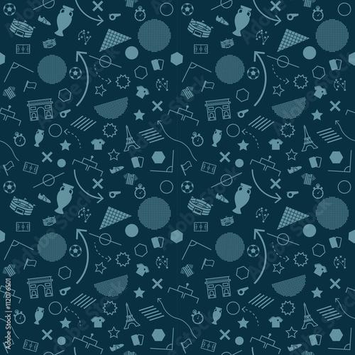 Soccer Abstract background soccer pattern 2016 Football. Vector Wallpaper Mural