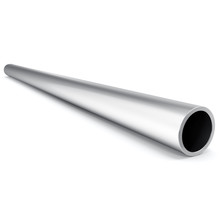 Metal Pipe Isolated On White Background. 3d Illustration