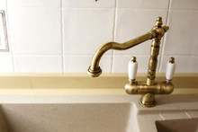 Vintage Faucet From The Sink. Kitchen