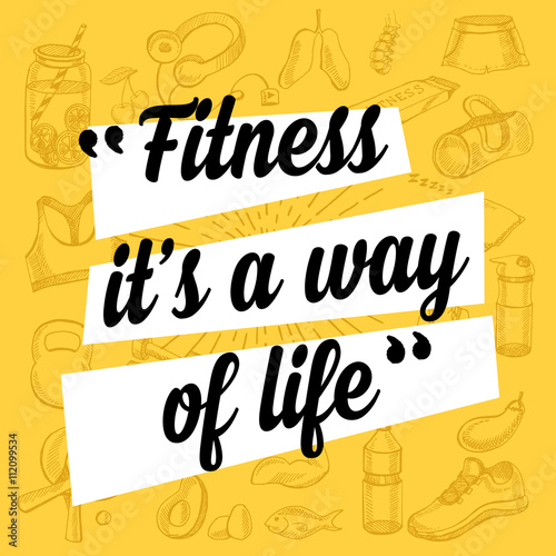 Fotografie, Obraz  Fitness motivation quote poster
