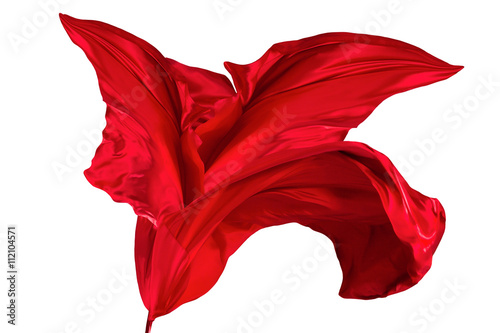 Spoed Foto op Canvas Stof Red silk fabric background