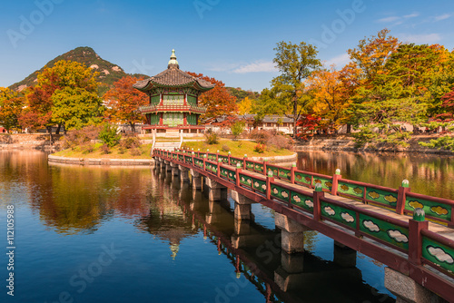 Foto op Canvas Seoel Autumn of Gyeongbokgung Palace in Seoul ,Korea..