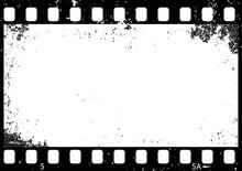 Grunge Black And White Film Frame, Vector
