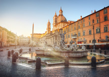 Piazza Navona During Sunrise, ...