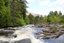 Wasserfälle Von Dochart, Schottland