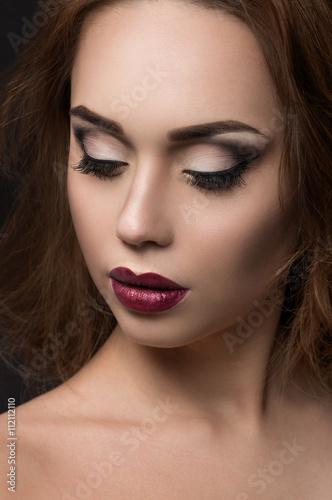 Foto op Plexiglas Beauty Closeup portrait of beautiful young woman