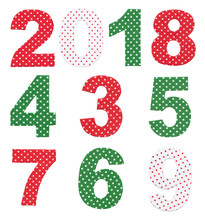 Fabric Numbers Isolated.