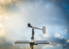 Anenometer Against A Dramatic Sky