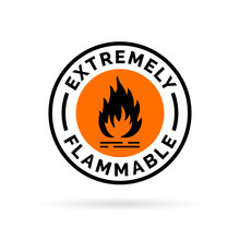Extremely Flammable Icon. Fire...