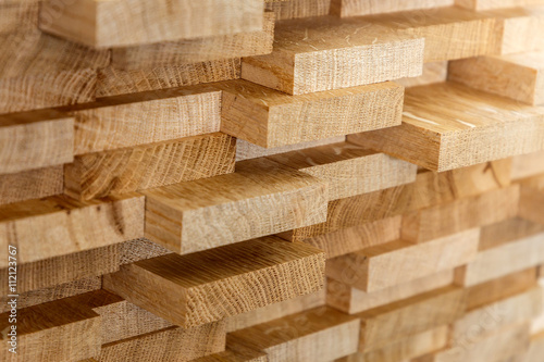 Valokuva  Wood timber construction material for background and texture.