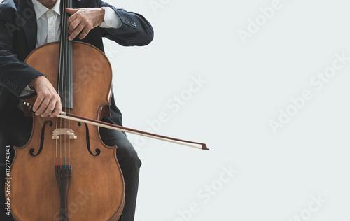 Plakat Wiolonczelista gra na swoim instrumencie