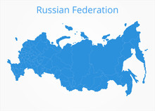 Russian Federation Map. Vector Illustration.