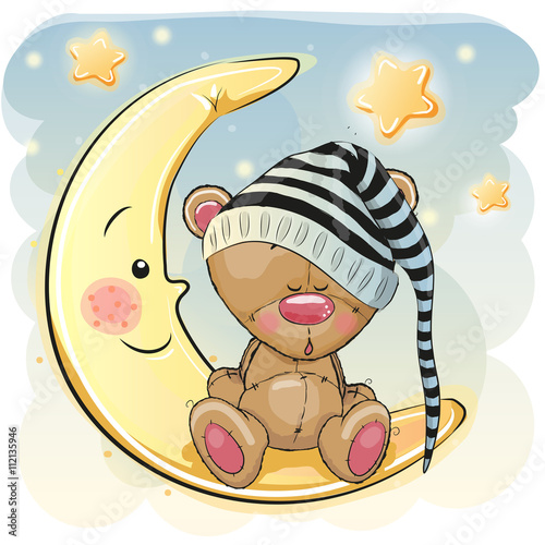obraz lub plakat Cute Sleeping Bear