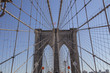 brooklyn bridge during a sunny day in new york