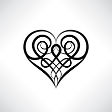 Heart Symbol Isolated. Love He...